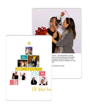 Holiday Mini Session Card Sample
